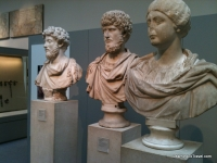 Marble busts of the Roman emperors
