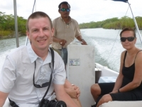 Daryle on the Boat to Lamanai