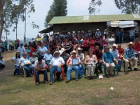 the gathering for the project dedication