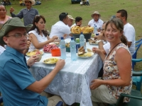 enjoying lunch as honored guests in the communities served, El Poshte and La Catocha