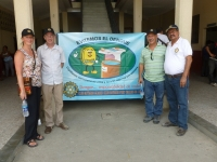 The Rotary Club of Fort Collins also partners with the club in Gualan, Guatemala. Primarily working on water and health projects. Here Daryle and I are pictures with Edwin and Benedicio from the Gualan Rotary Club during a tour of the health center that has been improved by collaborative work between the two clubs.