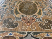 Table top inlaid with marble and other semi-prescious stones