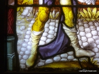 Close up of stained glass detail
