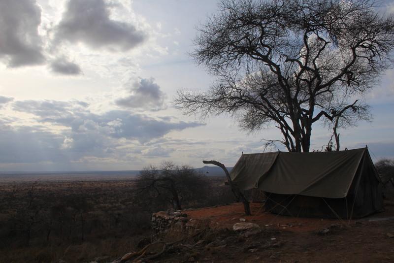 safari camping Cheetah Campsite - Lions Bluff
