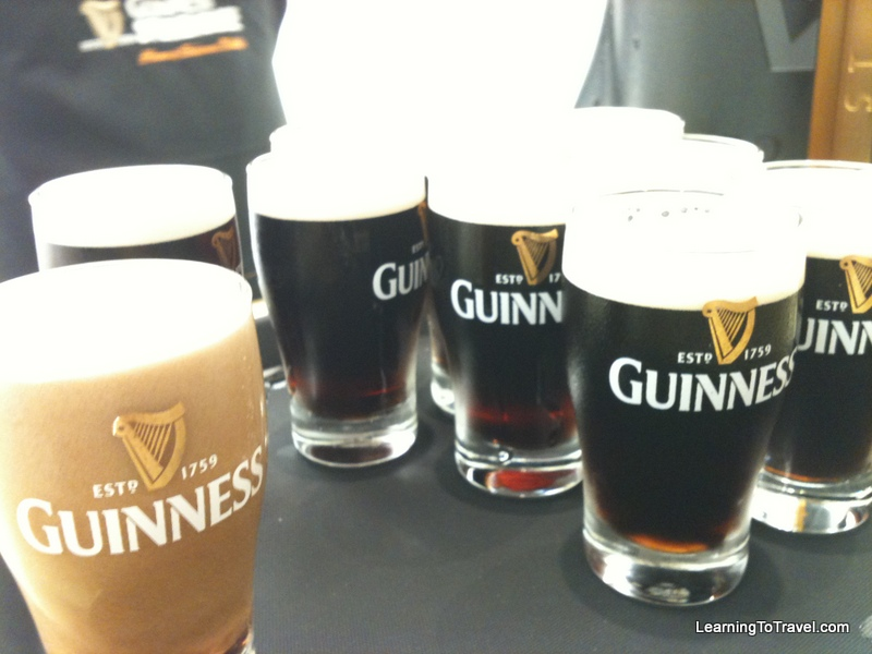 Guiness tasters at the Guiness Storehouse