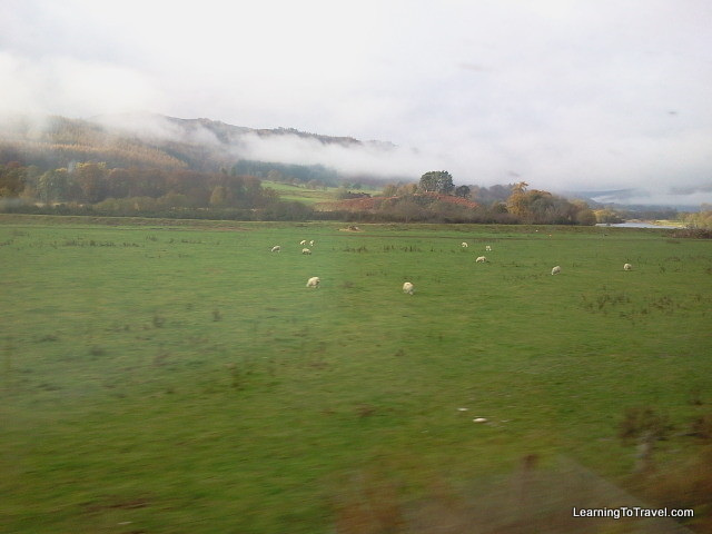 View from Train to Inverness