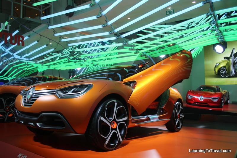 Paris car showroom