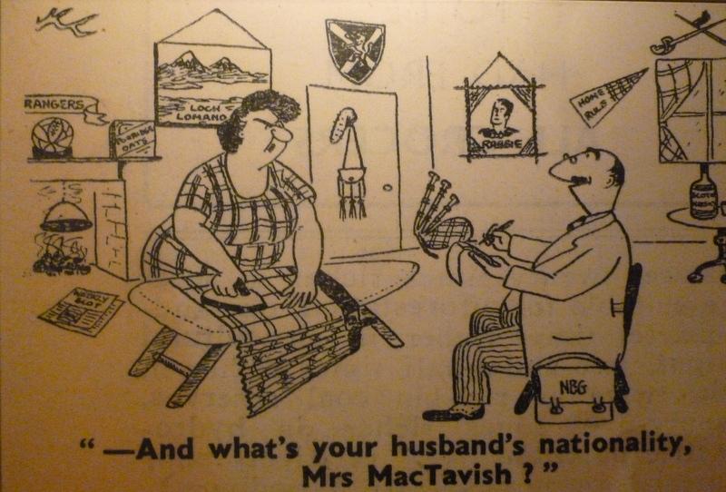 Scotland cartoon