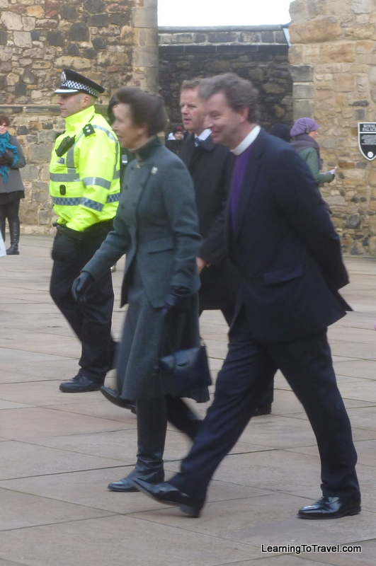 Princess Anne at Edinburgh Castle