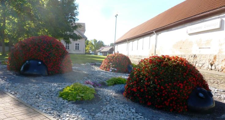 ladybug sculptors in ventspils latvia