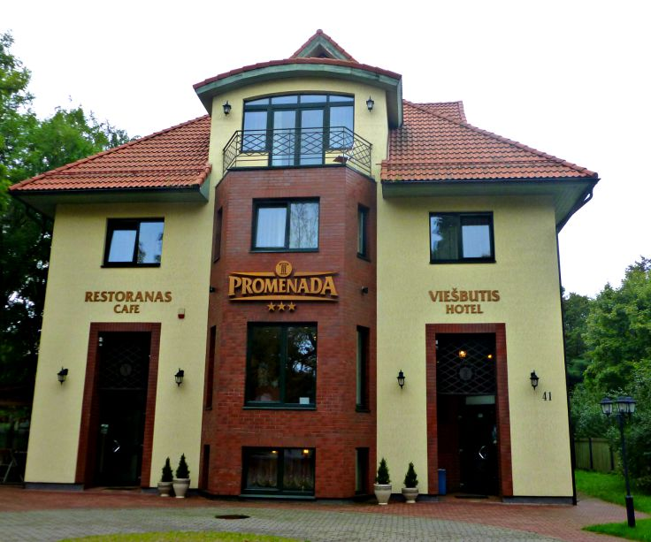 the hotel promenada in Klaipeda old town