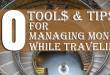 how to manage your money during travel