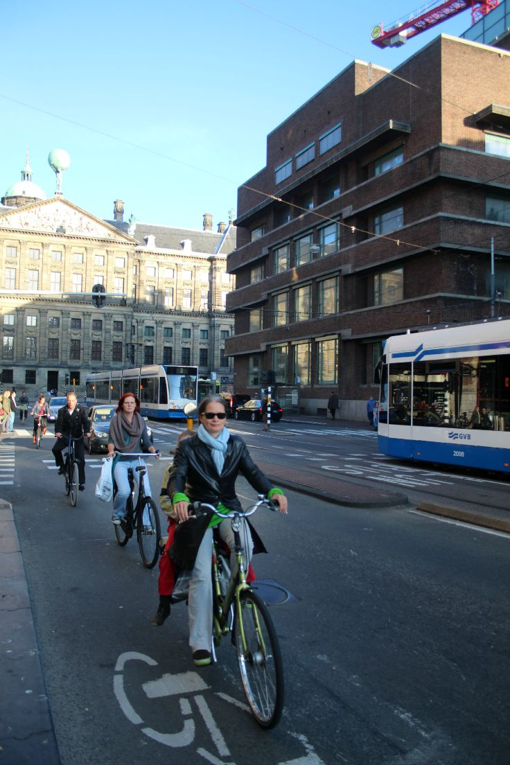 bike riders in amsterdam
