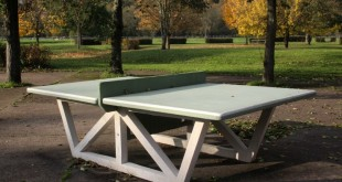 outdoor ping pong table in blois france