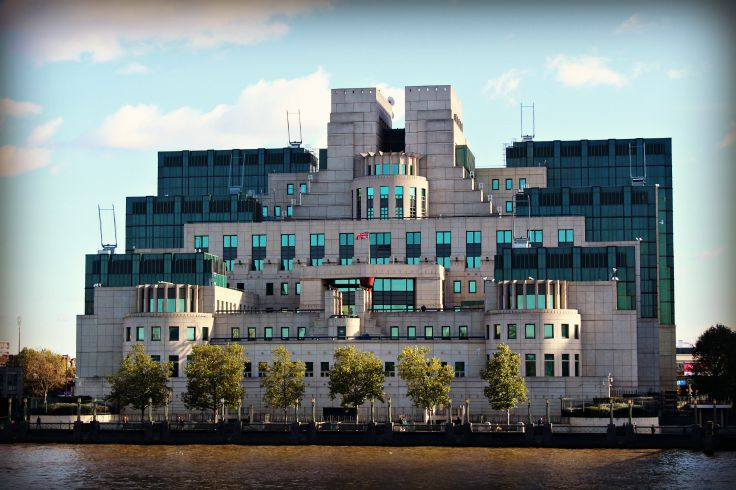MI6 Building in London England