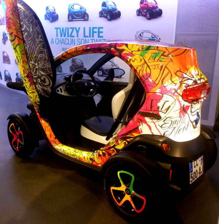 twizy car in paris showroom