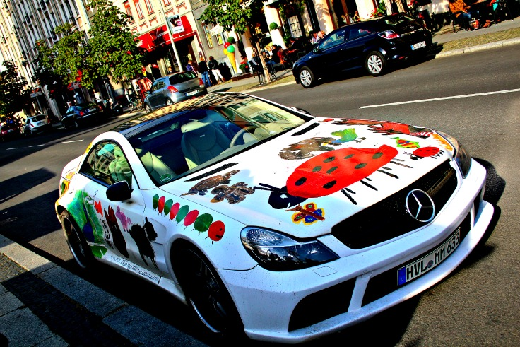 mercedes bad paint job berlin germany