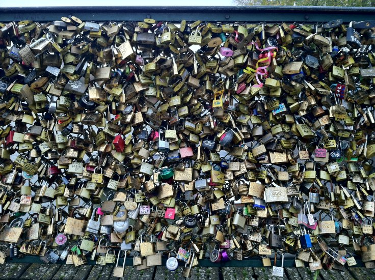 Pont des Arts bridge in Paris France