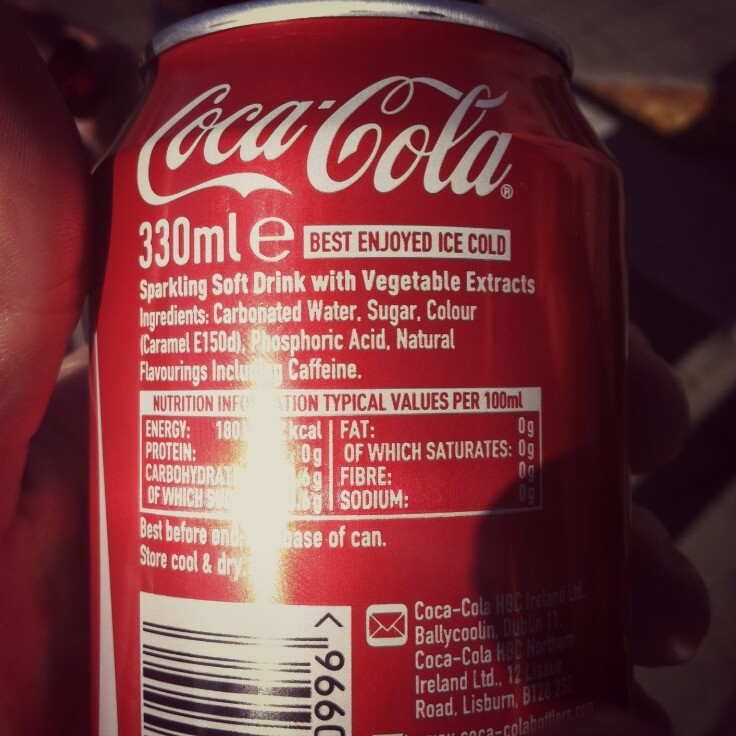 coke with vegetable extracts