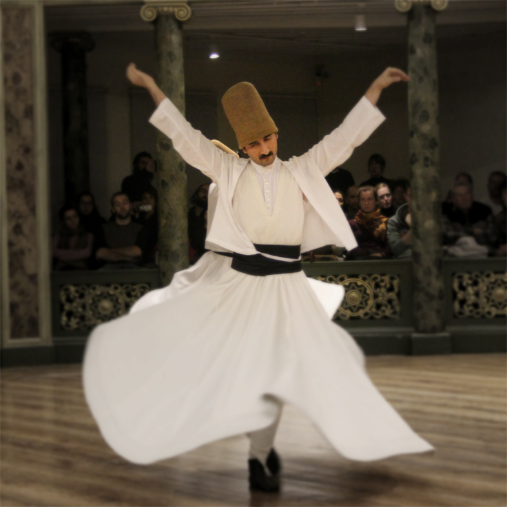 whirling dervish of istanbul turkey