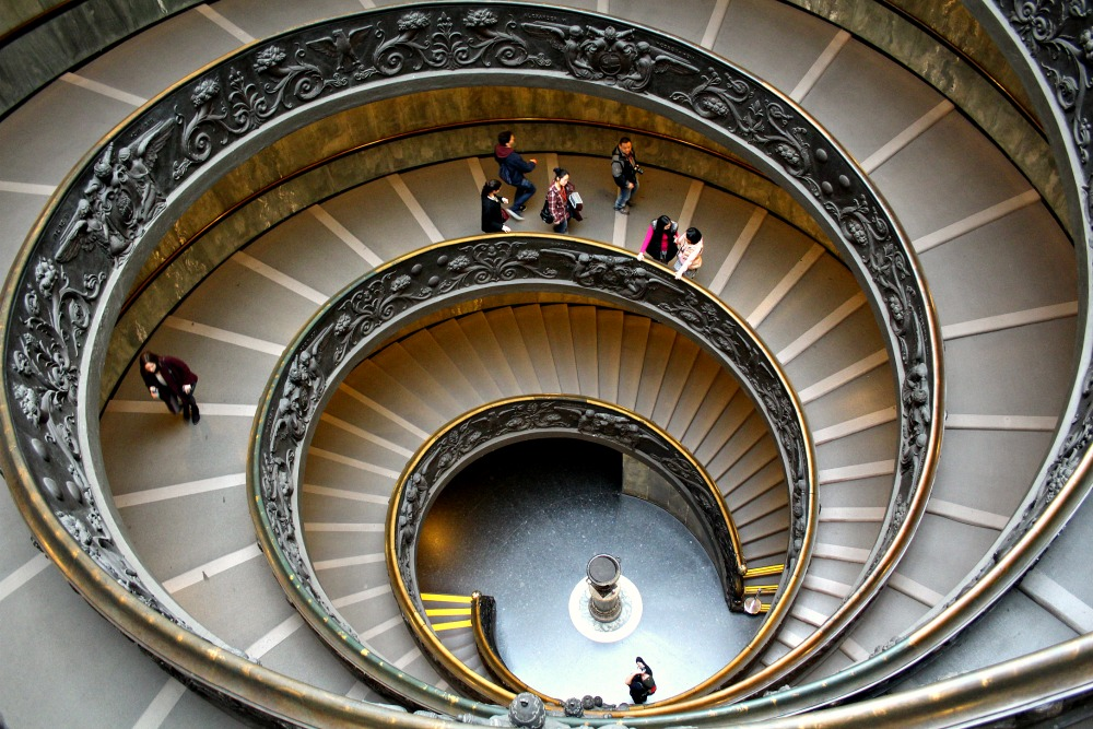 Bramante Staircase at Vatican Museums in Rome