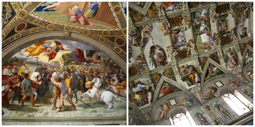 Works by Raphael and the Sistine Chapel in Rome